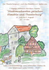 """Theaterprojekt """" Stadtmusikanten zwischen Ölmühle und Theaterburg"""""""