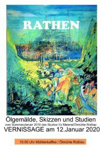 Vernissage Galerie Rathen Elbsandsteingebirge Ausstellung des Malstudios der Ölmühle @ Mühlentreff