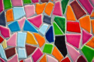 """Mosaik """"Buntes mit und am Stein"""""""